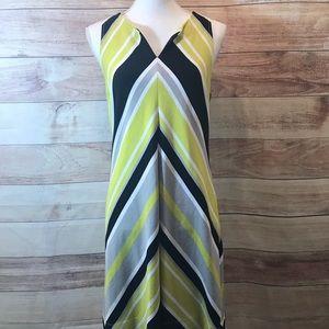 Banana Republic Sleeveless Chevron Sheath Dress